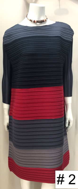 tunic pleated plissé multicolors