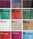 colors chart satin